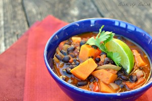 Smokey Black Bean & Sweet Potato Chili: Dish Up Delish