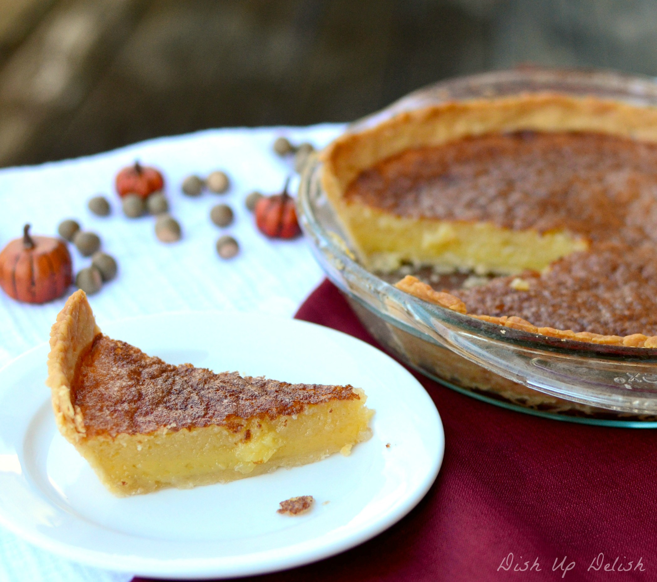 Buttermilk Pie 1 Dish Up Delish