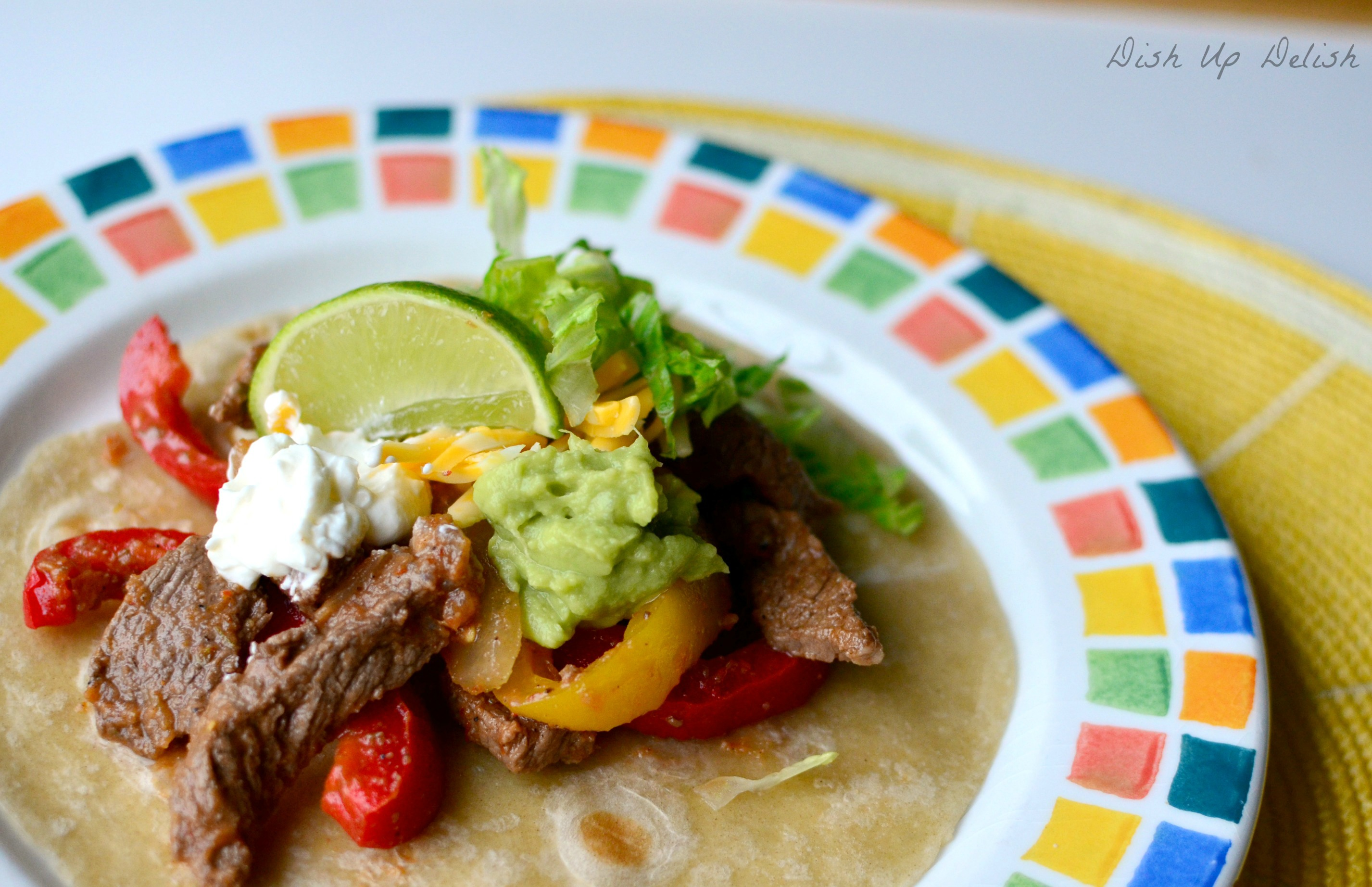 Fajitas Dish Up Delish