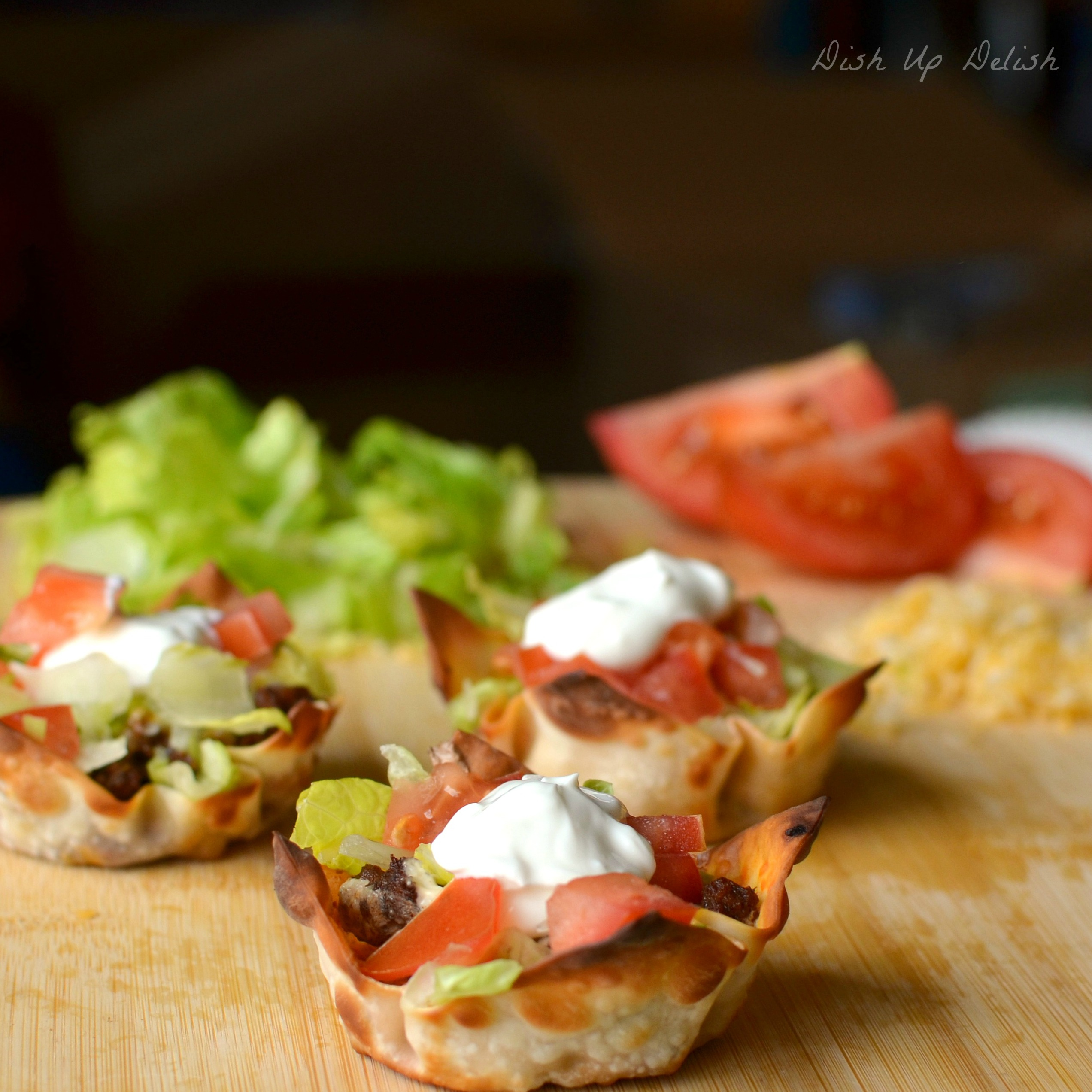 Taco Cups Dish Up Delish