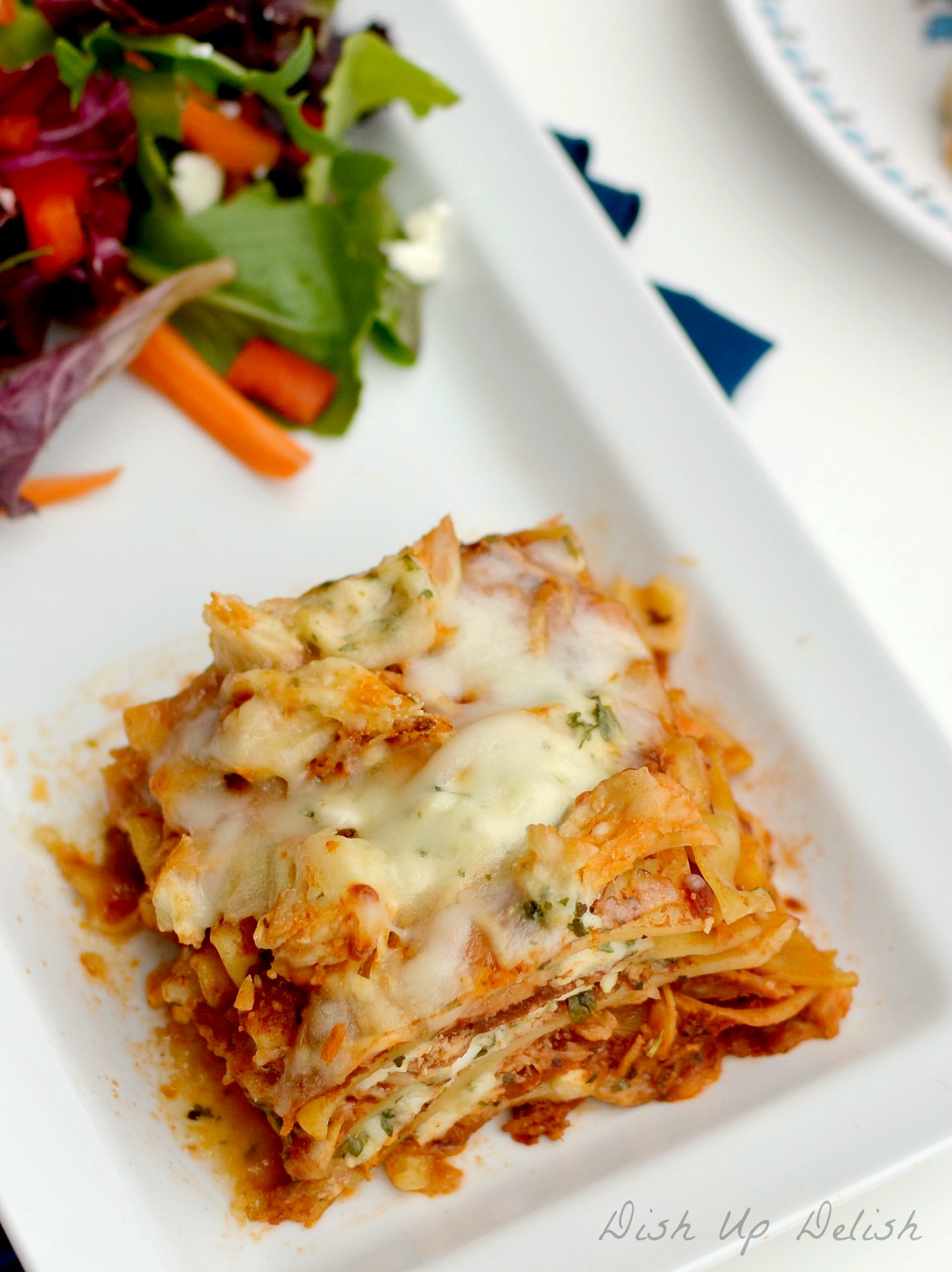 BBQ Chicken Lasagna Dish Up Delish
