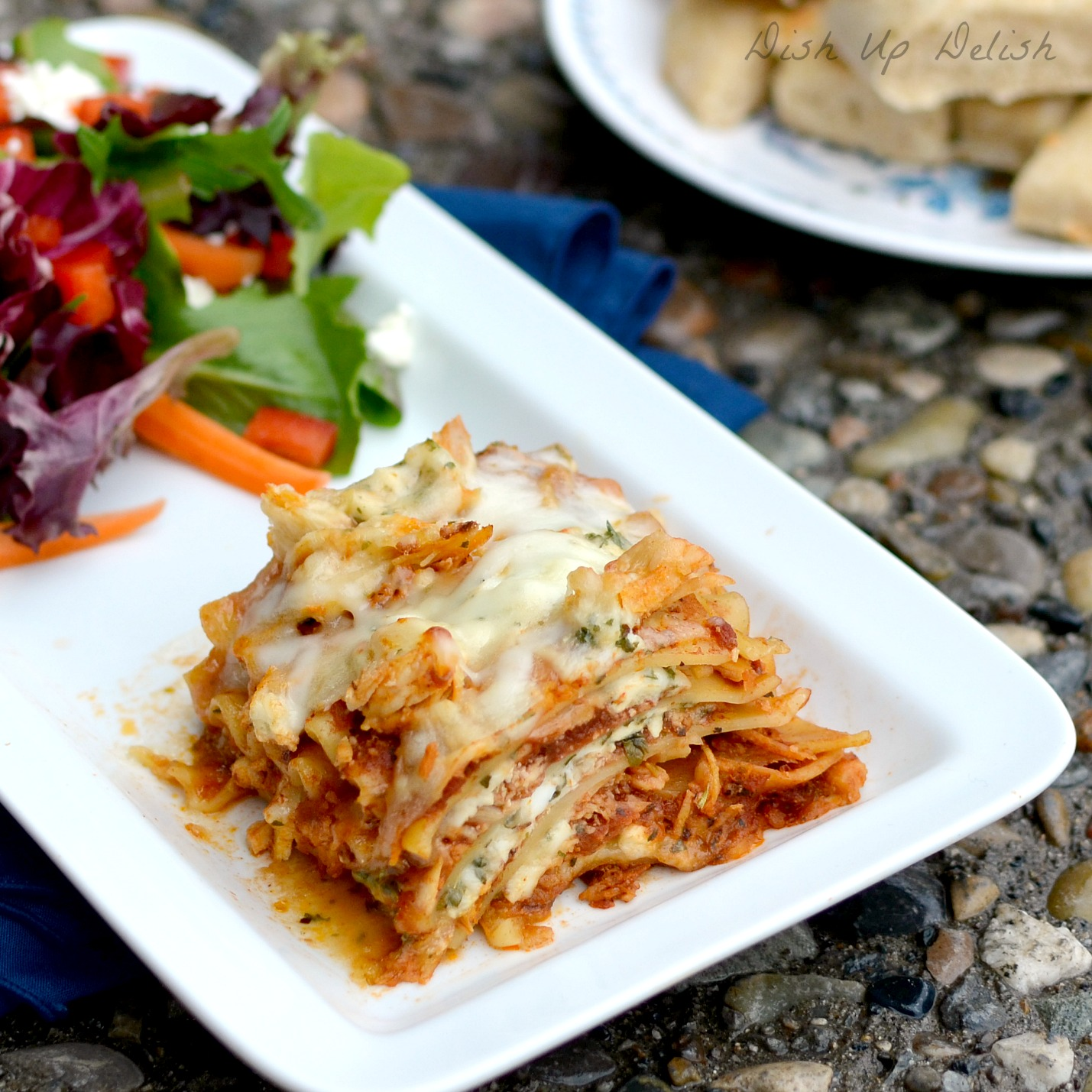 BBQ Chicken Lasagna at Dish Up Delish