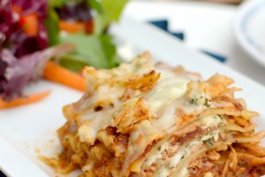 BBQ Chicken Lasagna from Dish Up Delish