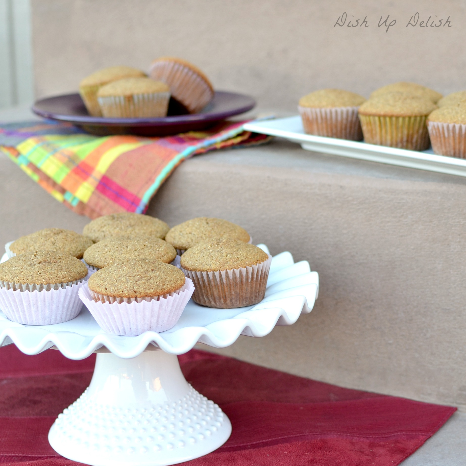 Brown Sugar and Whole Wheat Muffins Dish Up Delish