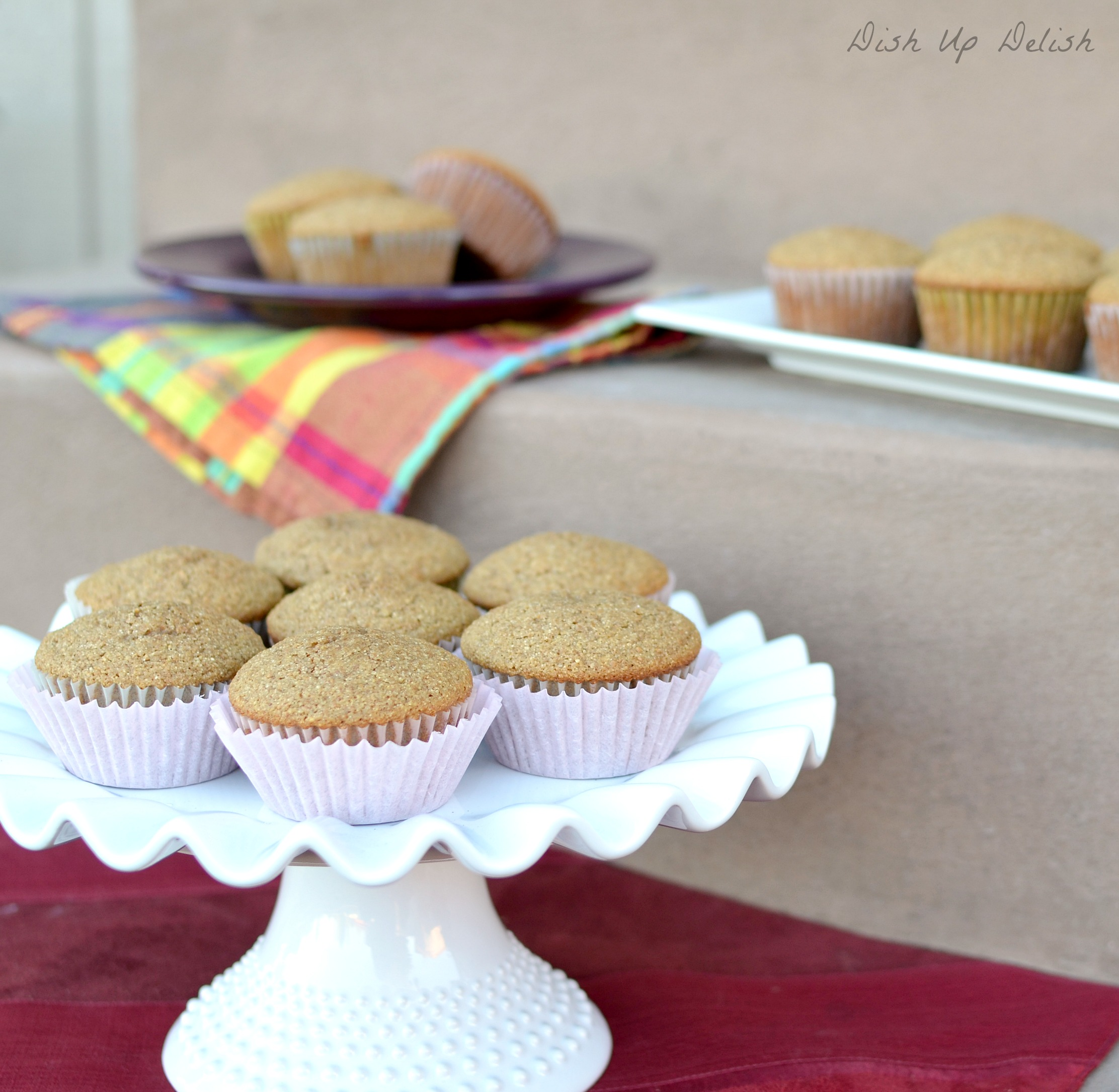 Brown Sugar and Whole Wheat Muffins from Dish Up Delish