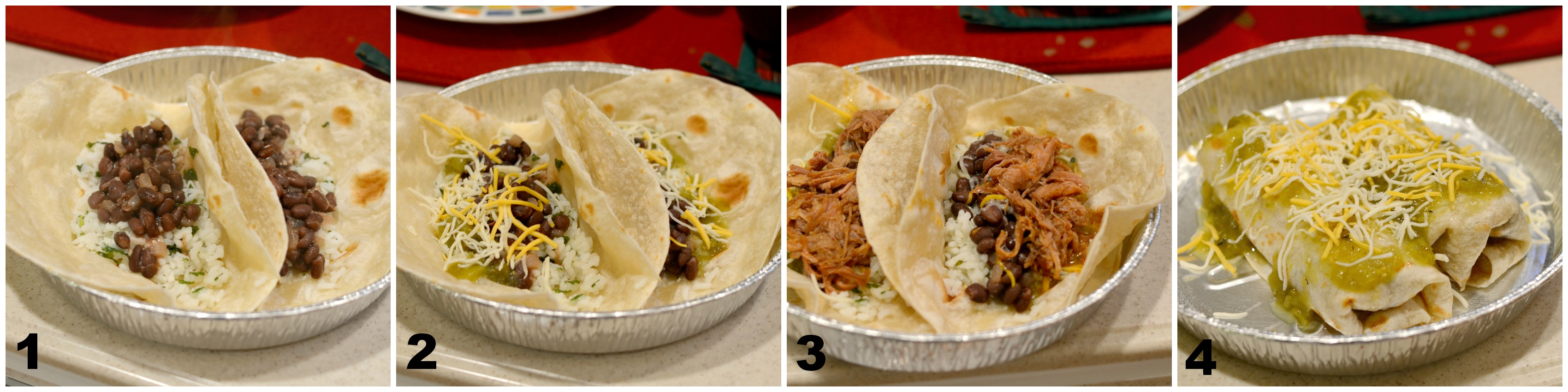 Cafe Rio Smothered Burrito Copycat Assembly on Dish Up Delish