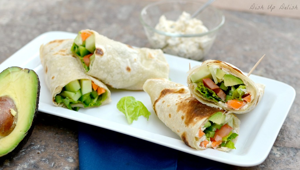Great Avocado Veggie Wraps from Dish Up Delish