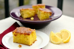 Lemon Pudding Poke Cake Dish Up Delish