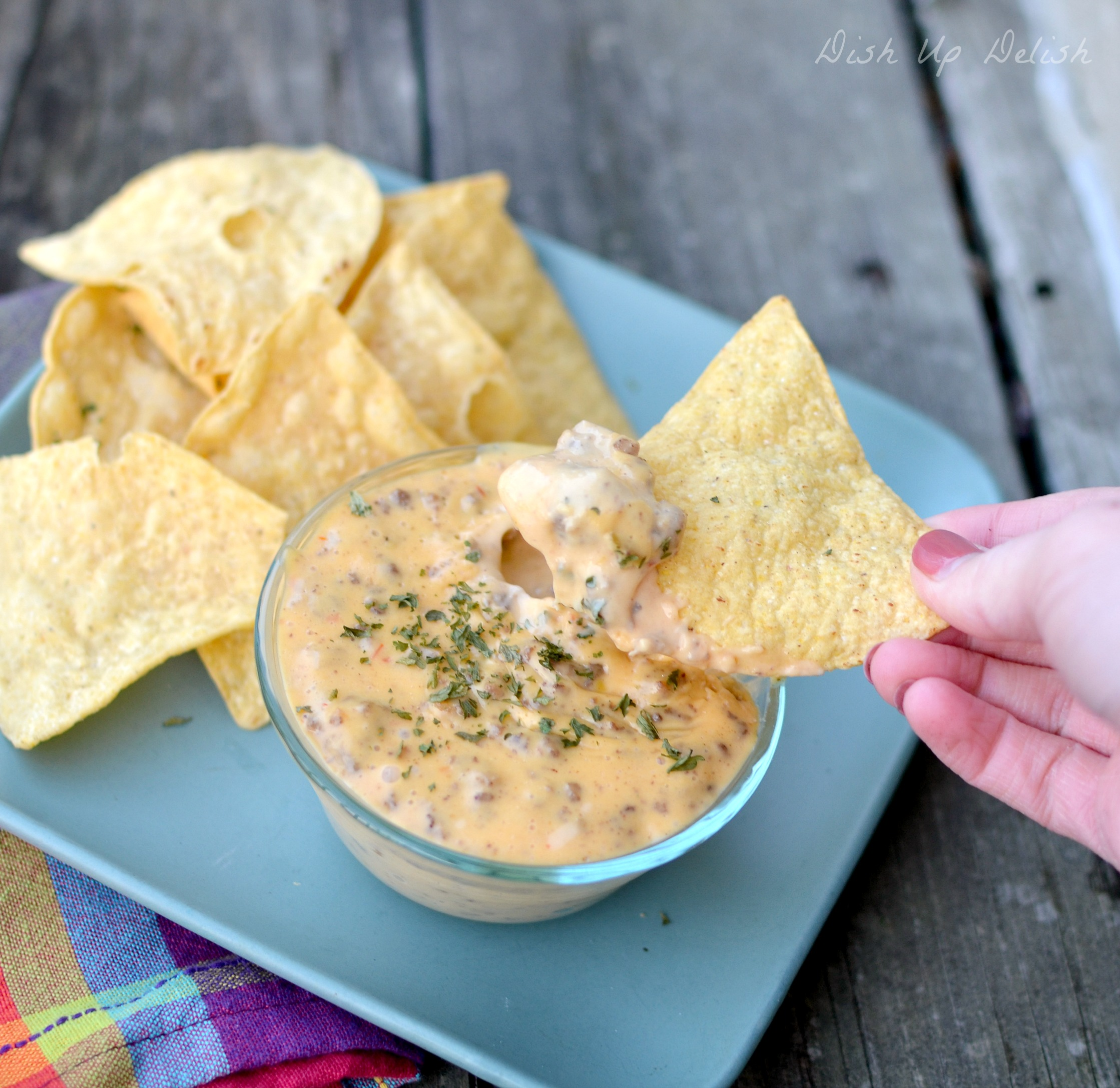 Meaty Queso from Dish Up Delish