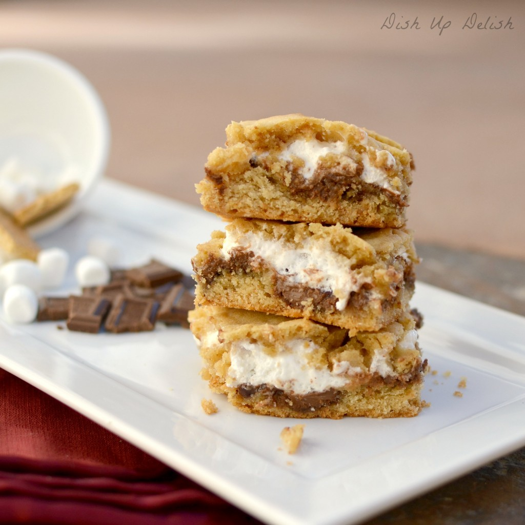 Smores Bars Dish Up Delish