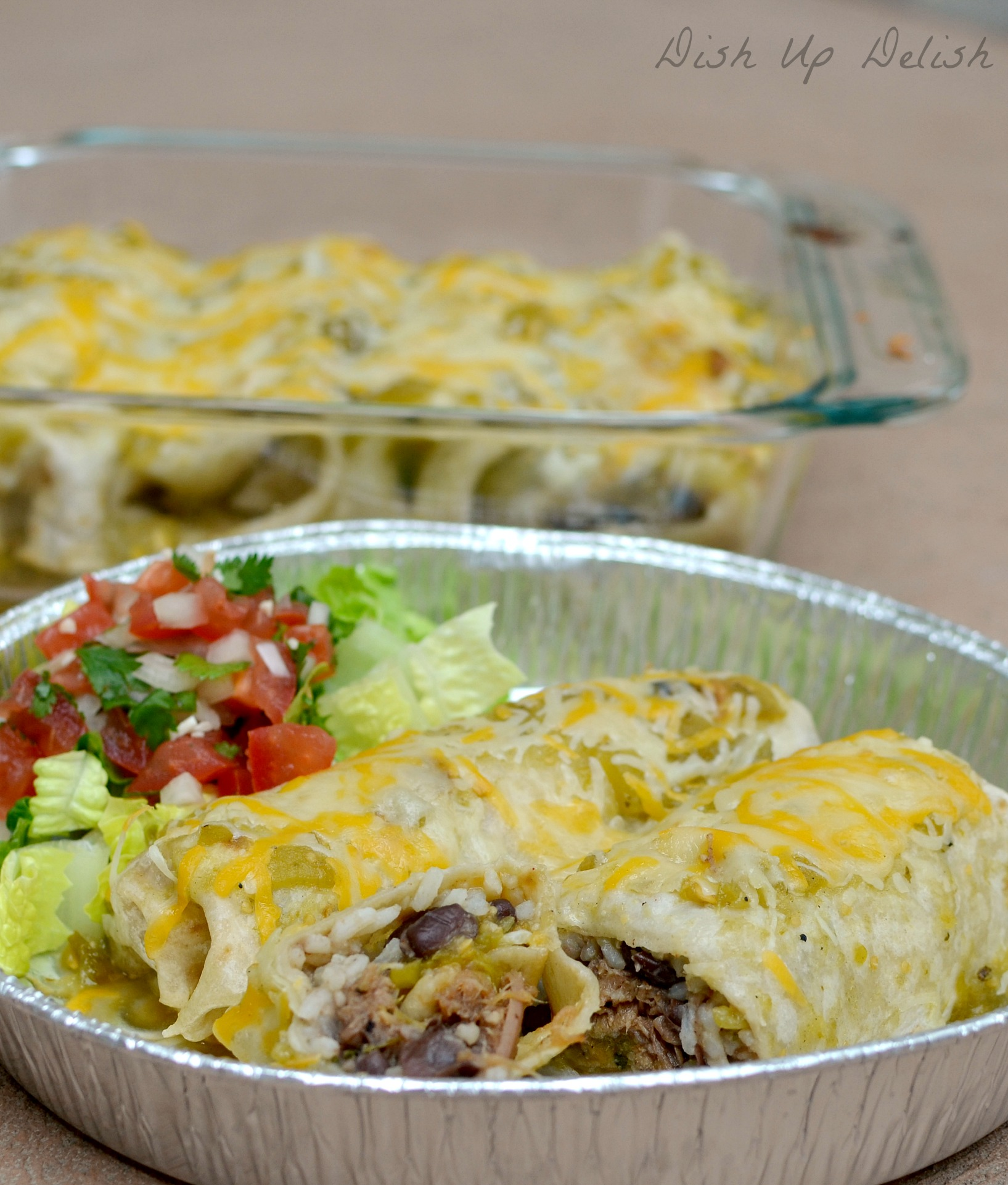Sweet Pork Smothered Burrito from Dish Up Delish