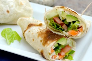 Yummy Avocado Veggie Wraps from Dish Up Delish