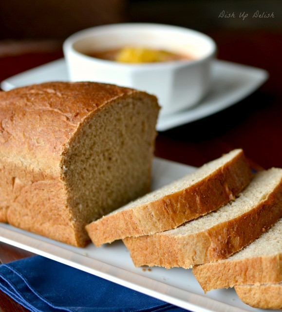 Honey Whole Wheat and Oat Bread on Dish Up Delish