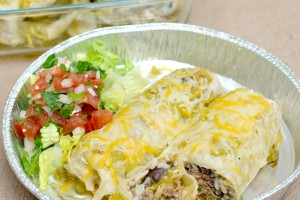 Sweet Pork Smothered Burrito on Dish Up Delish