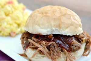 Crockpot BBQ Pulled Pork from Dish Up Delish