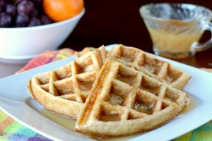 Whole Wheat Waffles from Dish Up Delish