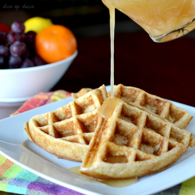 Whole Wheat Waffles on Dish Up Delish